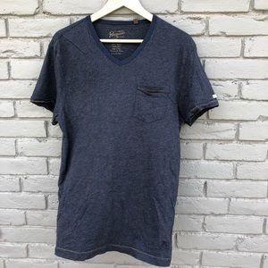 Penguin Navy V-neck T-shirt sz XXL